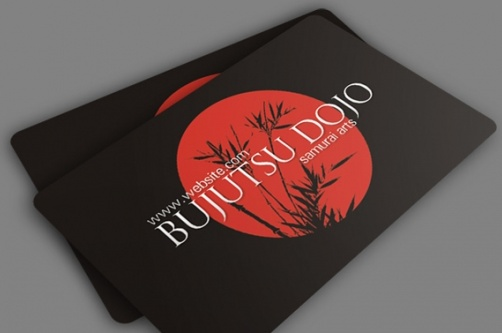 free psd business cards bujitsu business card