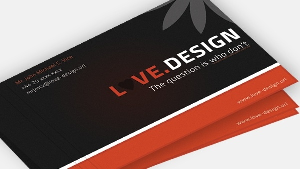 free psd business cards love design business cards