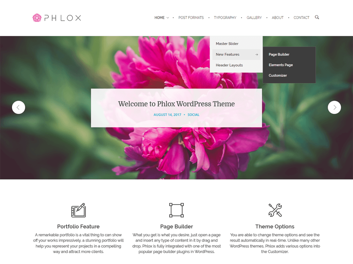 free wordpress themes phlox
