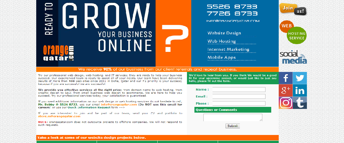 top 5 web design companies in qatar orange web design qatar