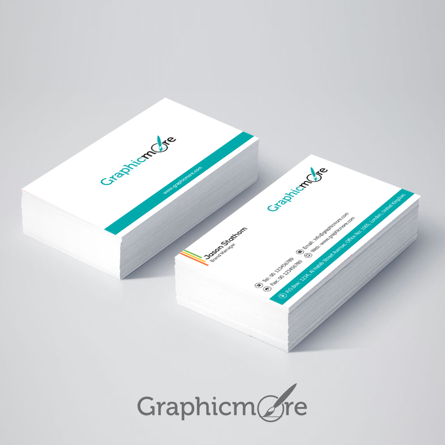 free psd business cards clean and corporate minimal business card