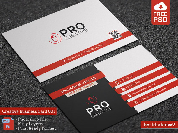 free psd business cards creative business card 001
