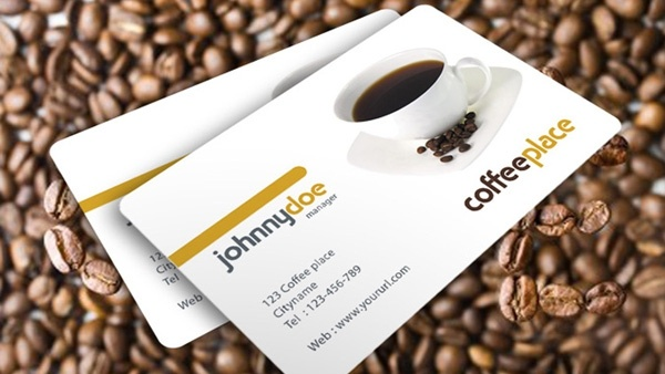free psd business cards coffee place business cards