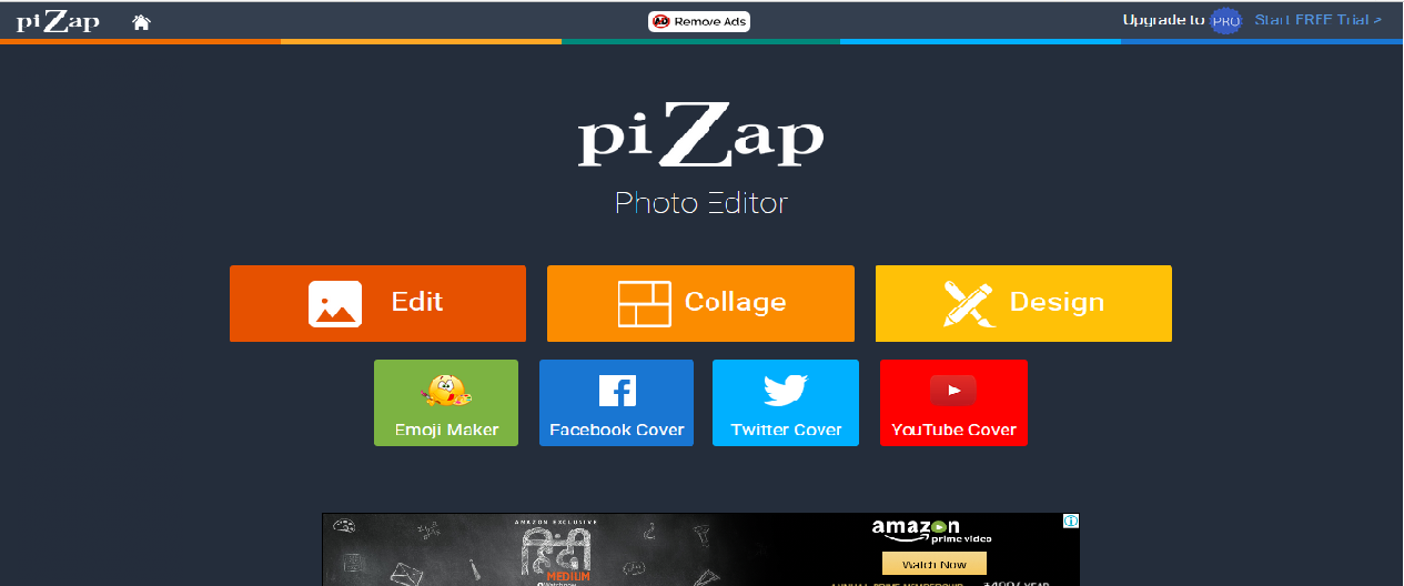 top 5 online image editing software pizap