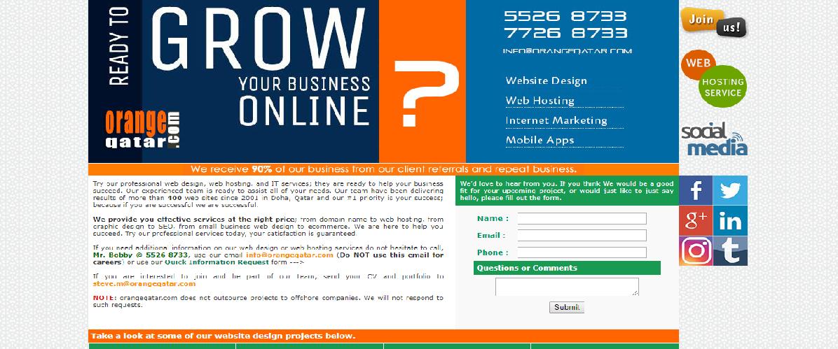 top 5 web design companies in qatar orange web design qatar