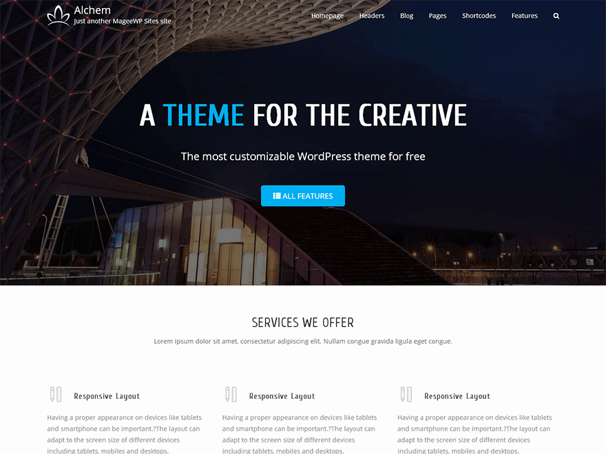 Free wordpress theme alchem