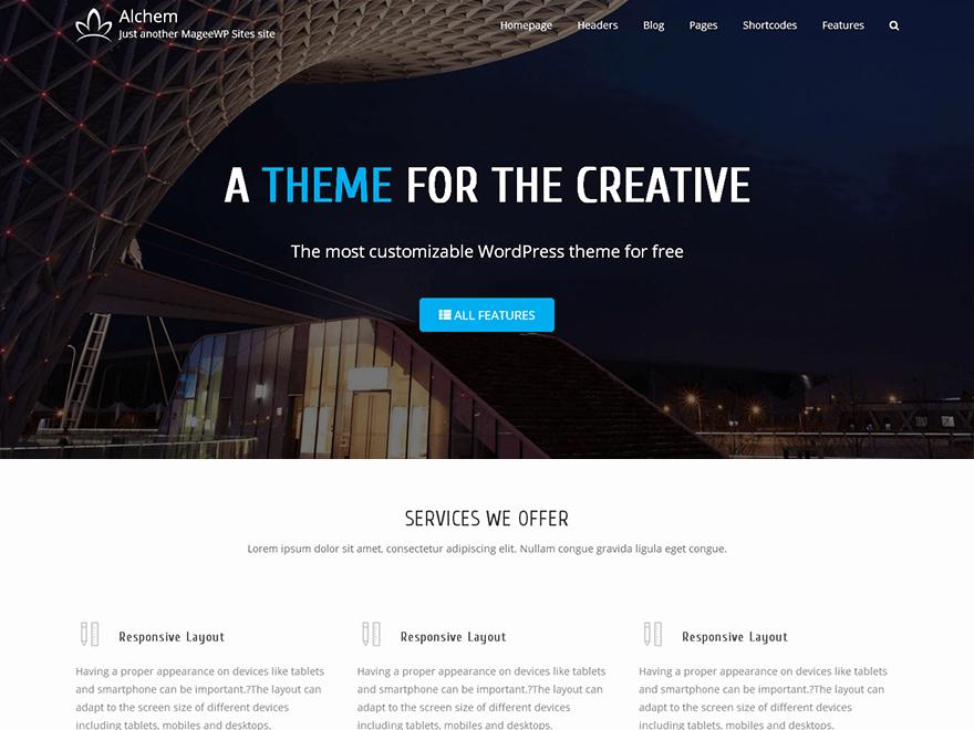 Free wordpress theme alchem