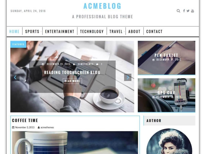 free wordpress theme acmeblog