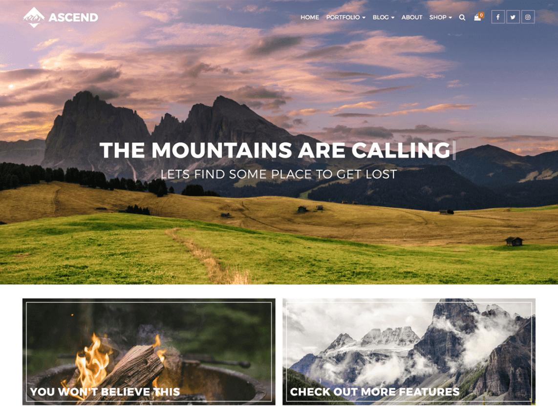 free wordpress theme ascend