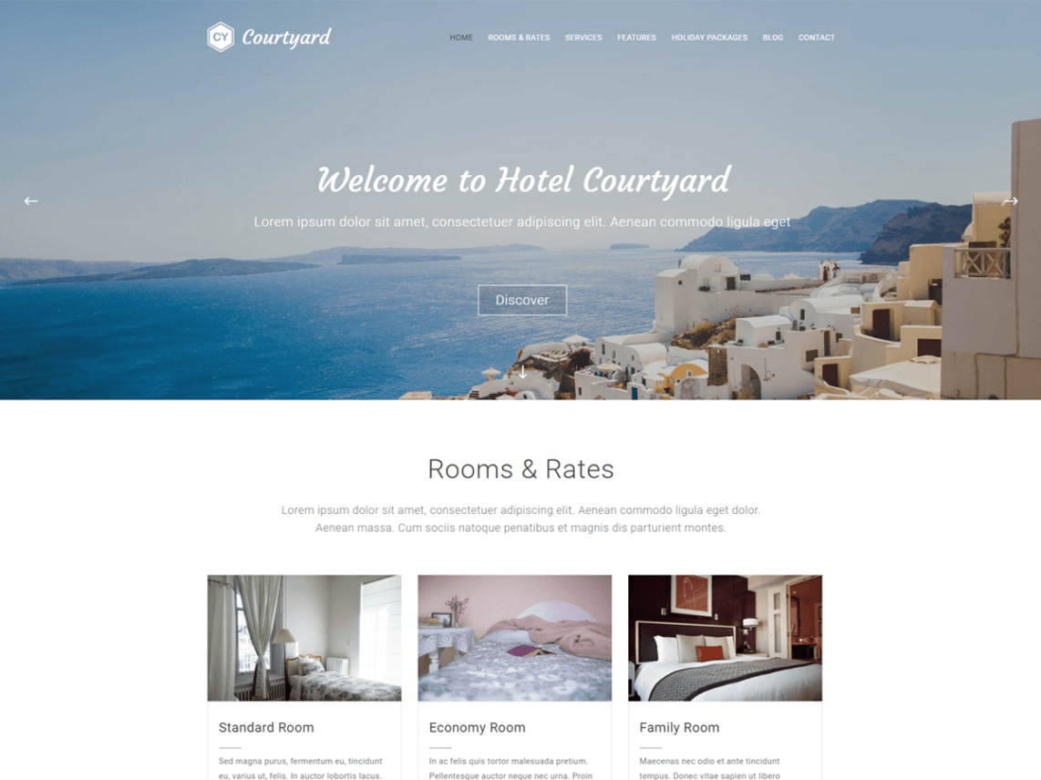 free wordpress theme courtyard