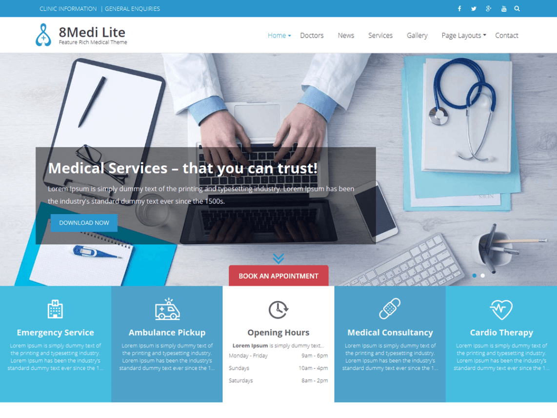 free wordpress theme eightmedi-lite