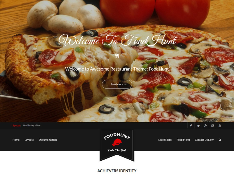 free wordpress theme foodhunt