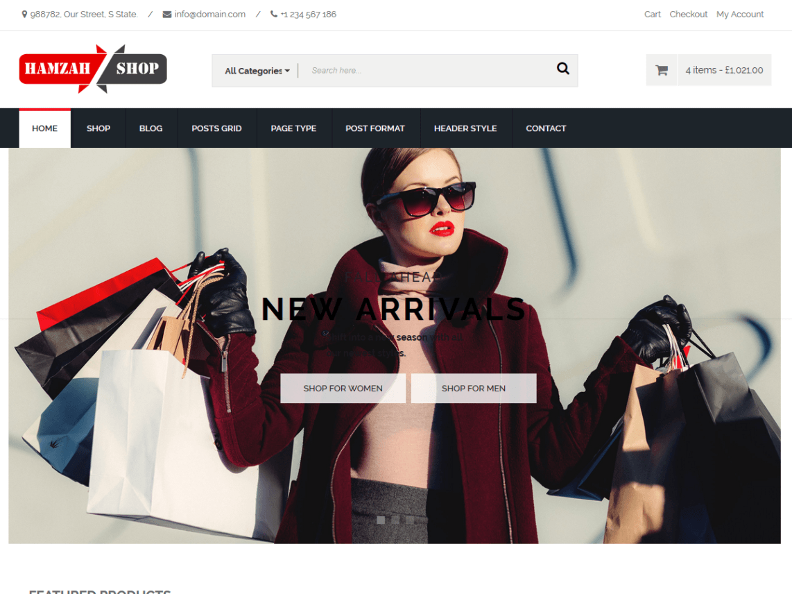 free wordpress theme hamzahshop