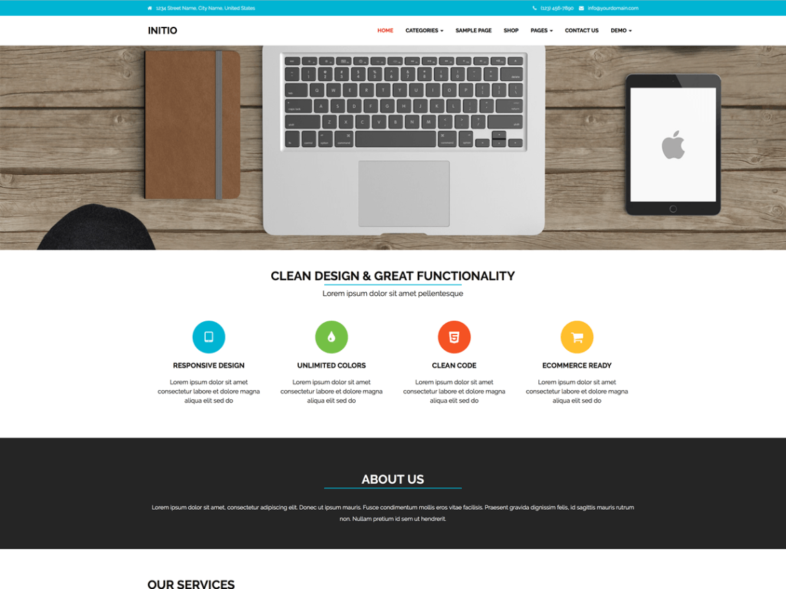 free wordpress theme initio