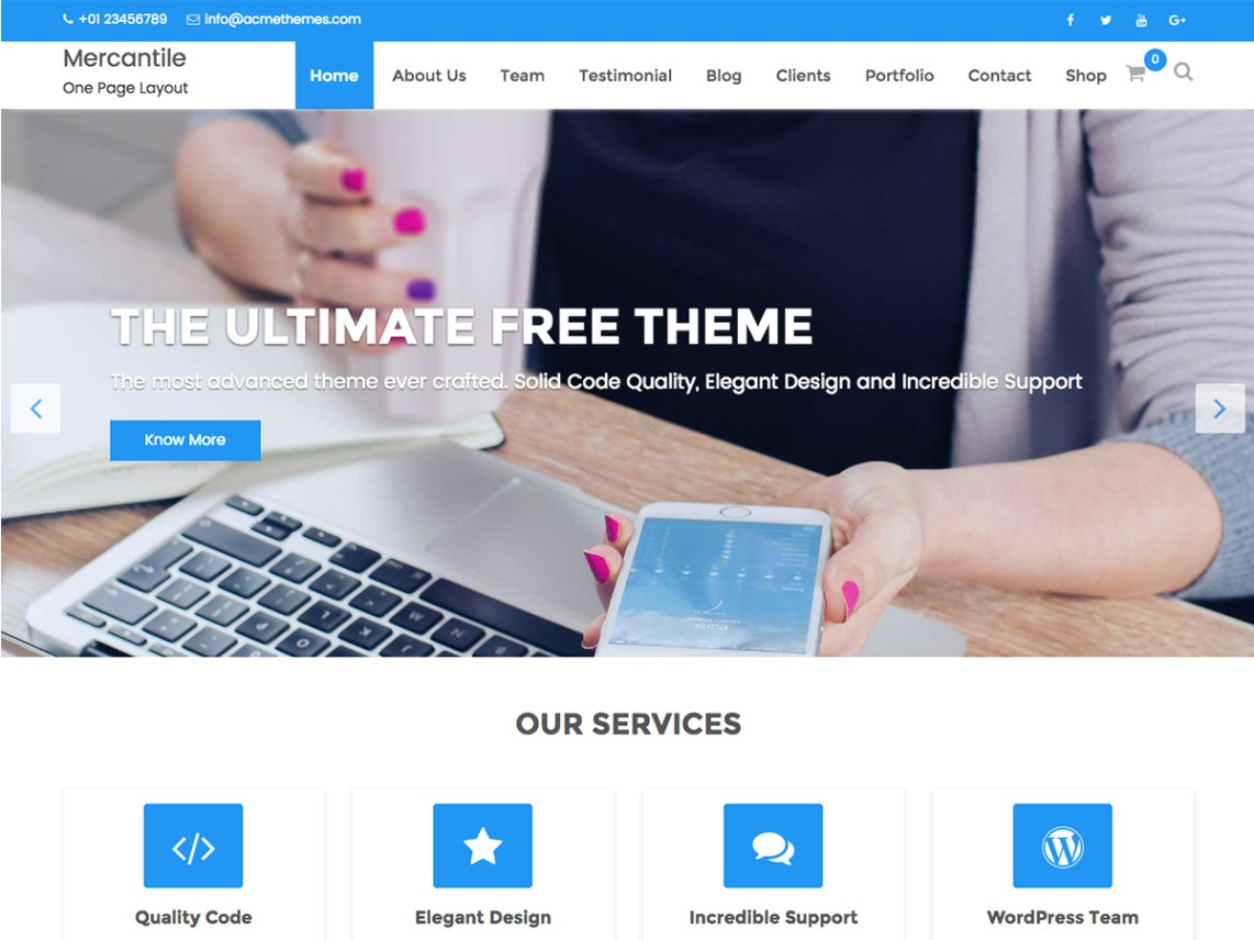 free wordpress theme mercantile