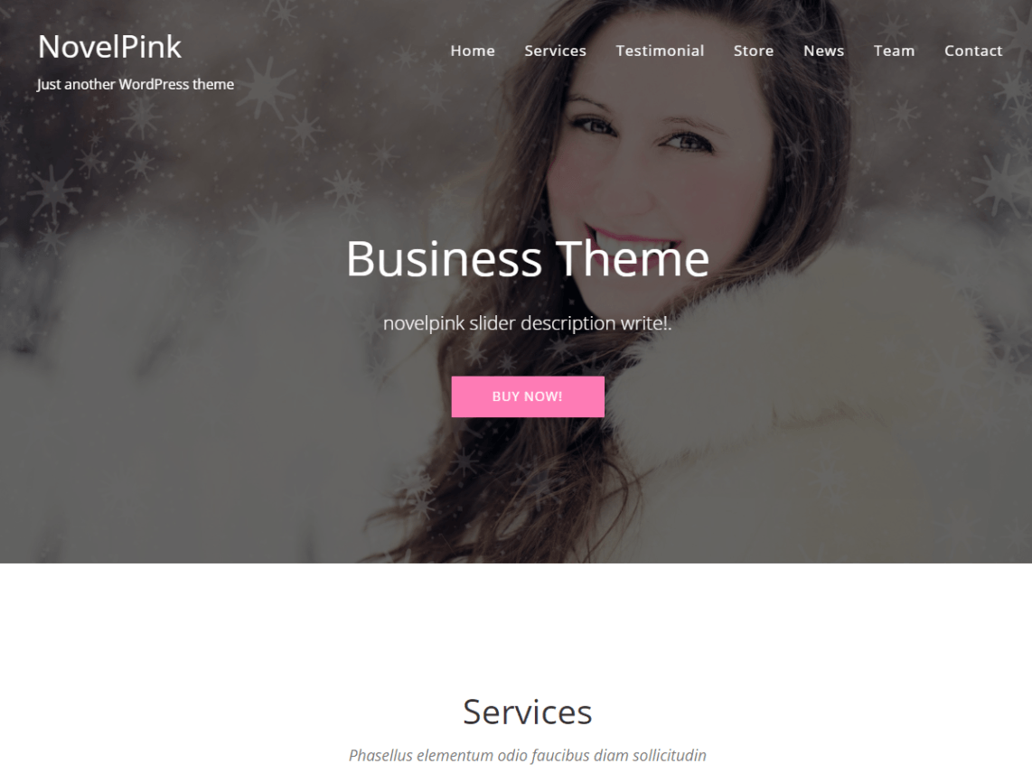 free wordpess theme novelpink