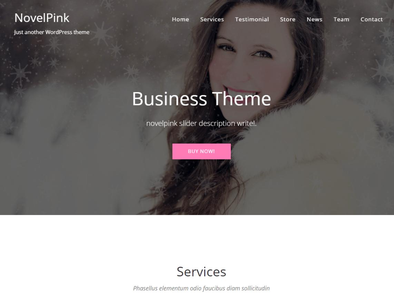 free wordpess theme novelpink