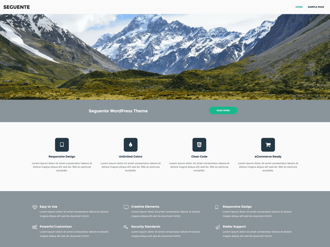 free wordpress theme seguente