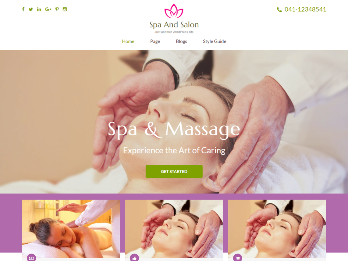 free wordpress theme spa and salon