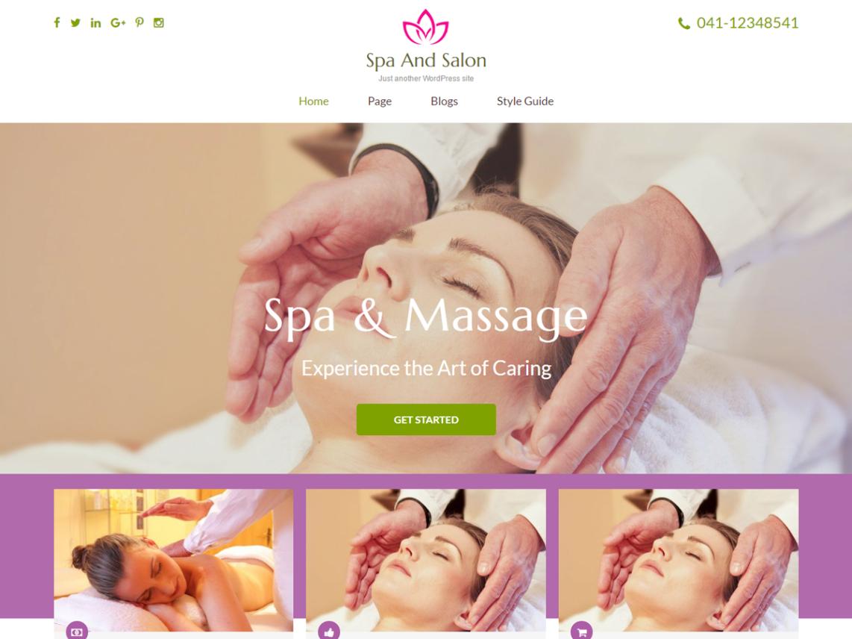 free wordpress theme spa and salon