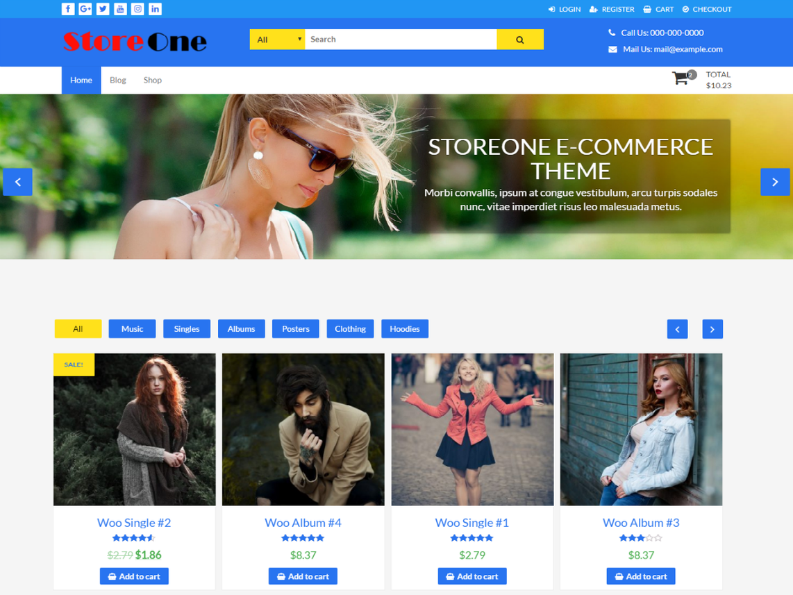 free wordpress theme storeone