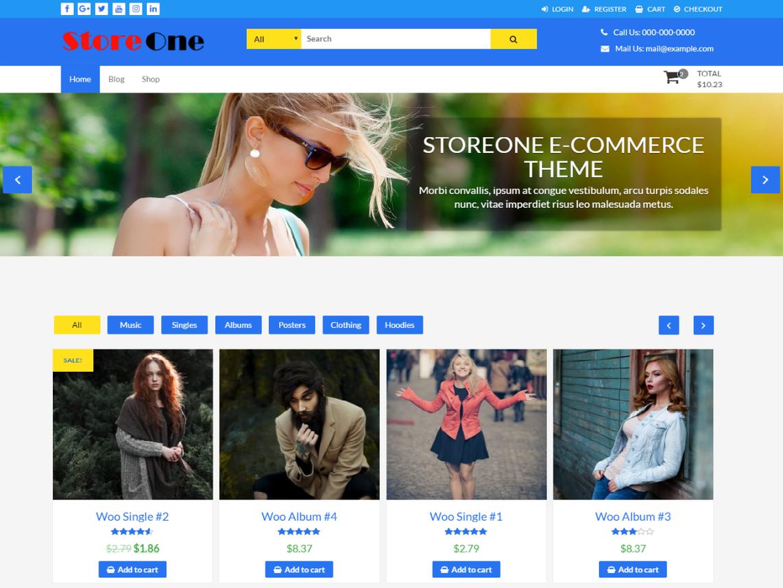 free wordpress theme storeone