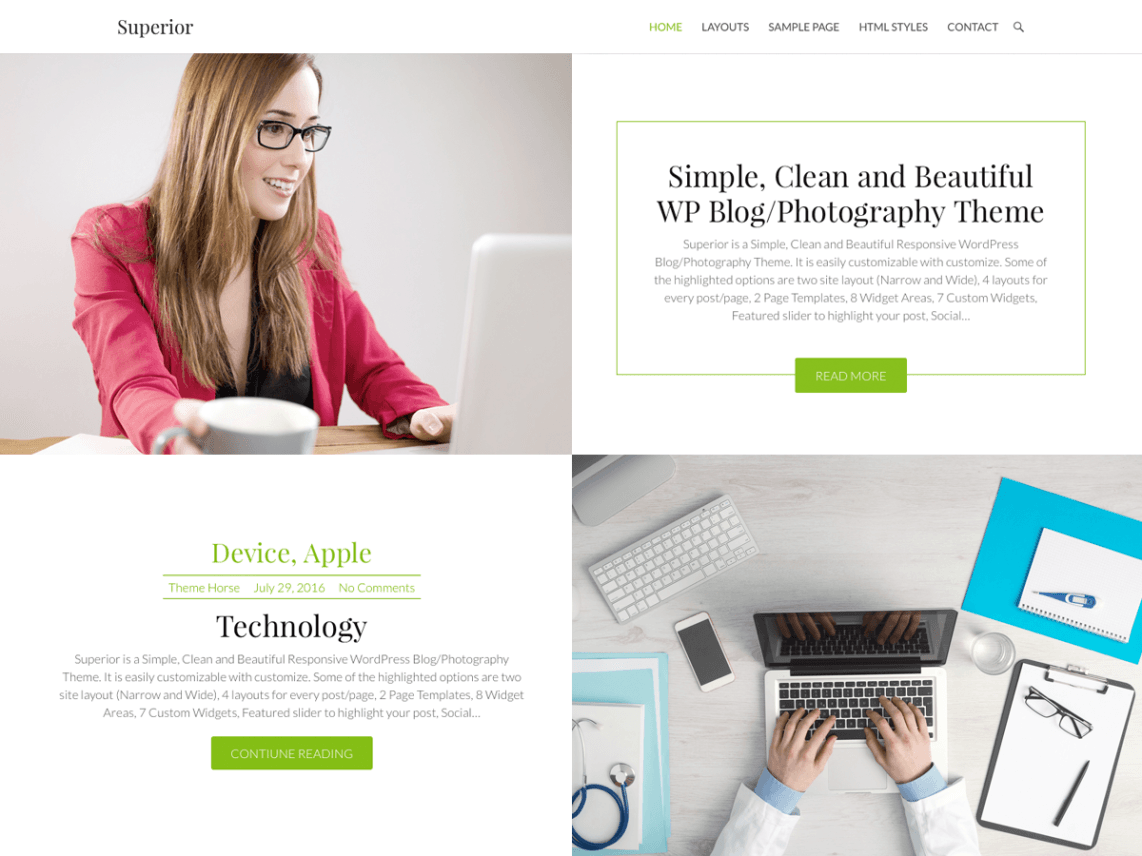 free wordpress theme superior